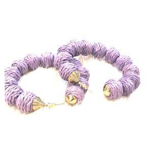 Purple statement hoops